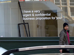 On Spam, Business Proposals (London)