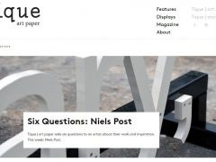 Six Questions @ Tique Art Paper