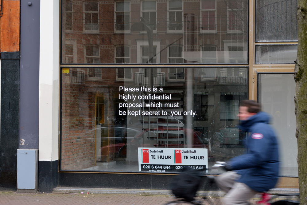 Niels Post, Business Proposals (Amsterdam)